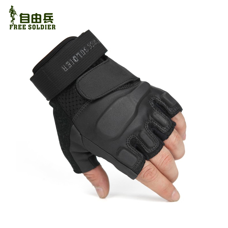 Outdoor Half-fingered Gloves for Special Forces Men Riding with Open-fingered Half-fingered Tactical Comfort and Durable Gloves for Mountaineering