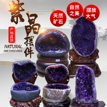 Natural Amethyst Cave Crystal Cave Size Raw Mineral Cave Dinosaur Egg Cornucopia Living Room Porch Office ornaments