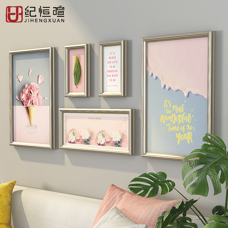 Ins living room dining room wall decoration wall hanging wall decoration bedroom staircase sofa background wall soft hanging wall decoration