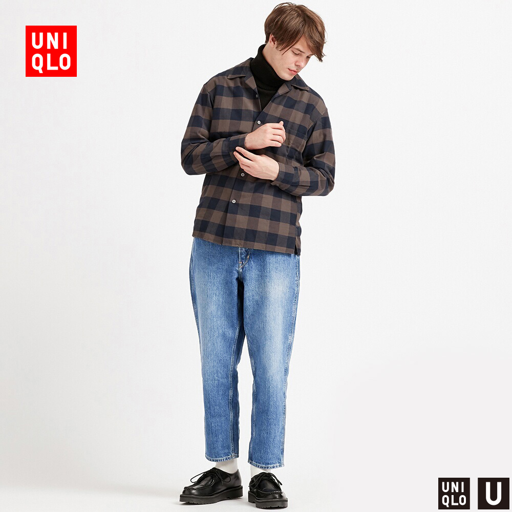 Designer's Collaborative Men's Wear Wide Legs and Narrow Mouth Jeans (Washing Products) 425818 Uniqlo
