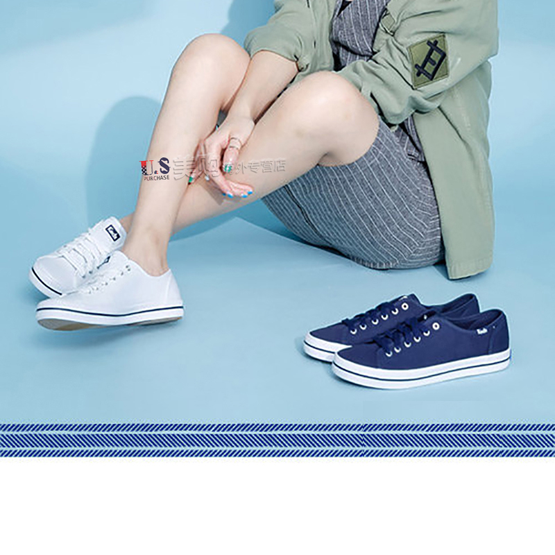 In spring and summer of 2018, keds fashionable, simple, comfortable and leisure ladies'pure canvas shoes