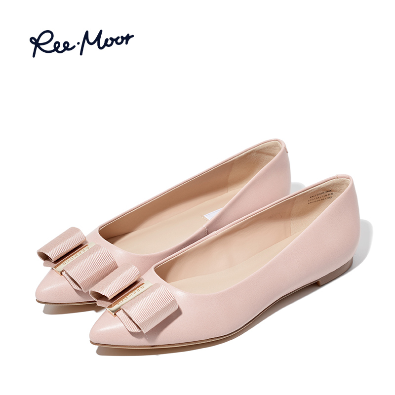 REEMOOR autumn flat shoes shallow mouth single shoes women's new fashion boat shoes pointed nurse shoes Rui Mu women's shoes