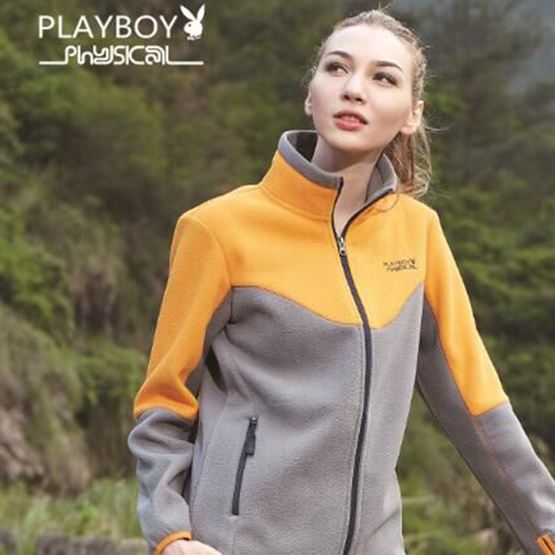 Fall and Winter 2018 New Playboy Outdoor Woman Grab Suede Outdoor Rocker Card Soft Shell Sanitary Clothes