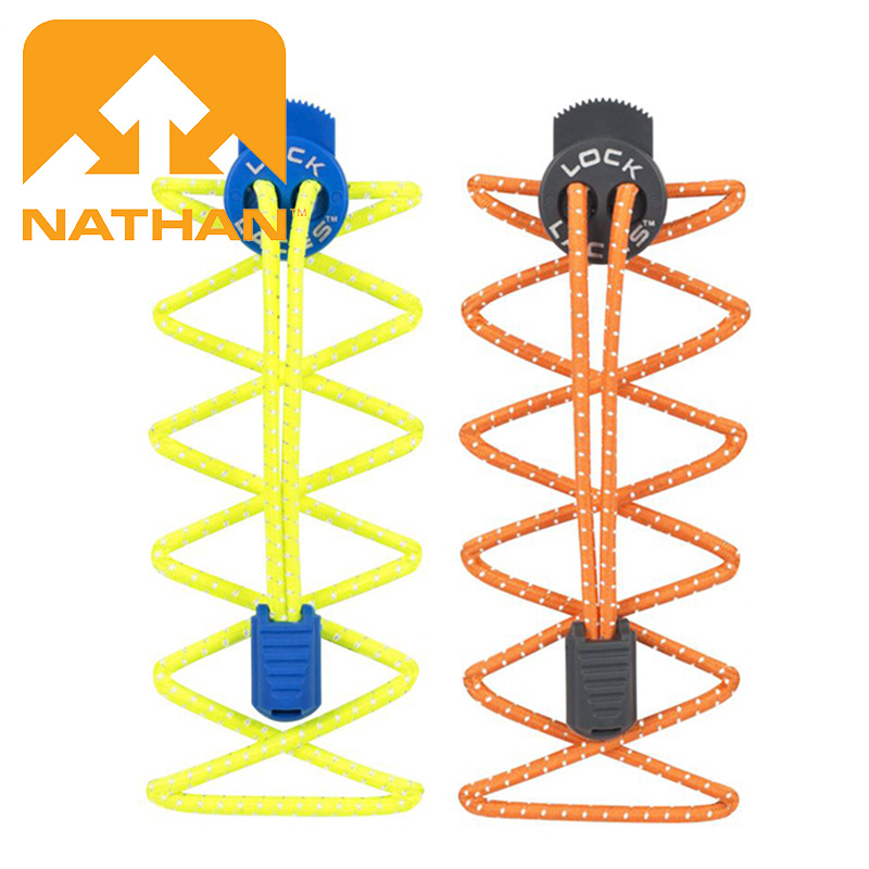 Nathan Running Triathlon Trail Running Safety Reflective Self-locking Shoelace Tightening Shoelace