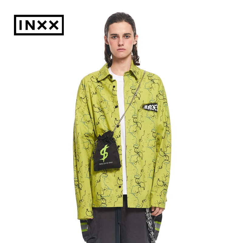 Insxxno plastic fashion brand mall same print long sleeve shirt xxa2040389