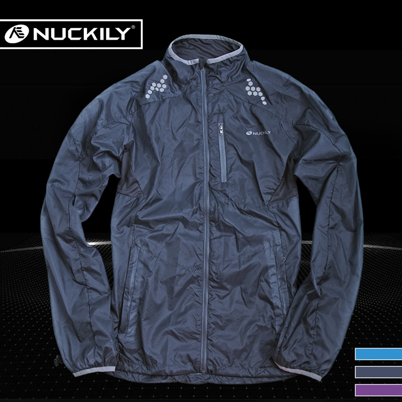 NUCKILY cycling windbreaker for men and women in summer outdoor light bicycle skin windbreaker long sleeve sunscreen