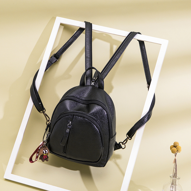Backpack female backpack 2018 new Korean version of the wild chest bag backpack shoulder small dual-use female bag soft leather mini