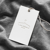 Hanging custom clothing label籤 custom clothing tag custom-made logo clothing store womens clothing listing tag custom-made special paper concave trademark tag design spot custom printing simple atmosphere