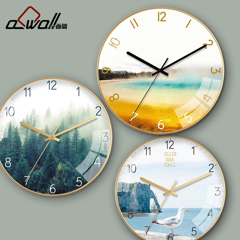 Living room household creative clock simple modern clock bedroom quartz clock Hall clock personalized wall clock