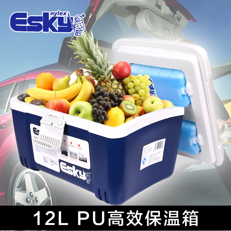 ESKY12L portable breast milk refrigerated incubator portable ice pack food preservation box pu foam insulation ice bucket