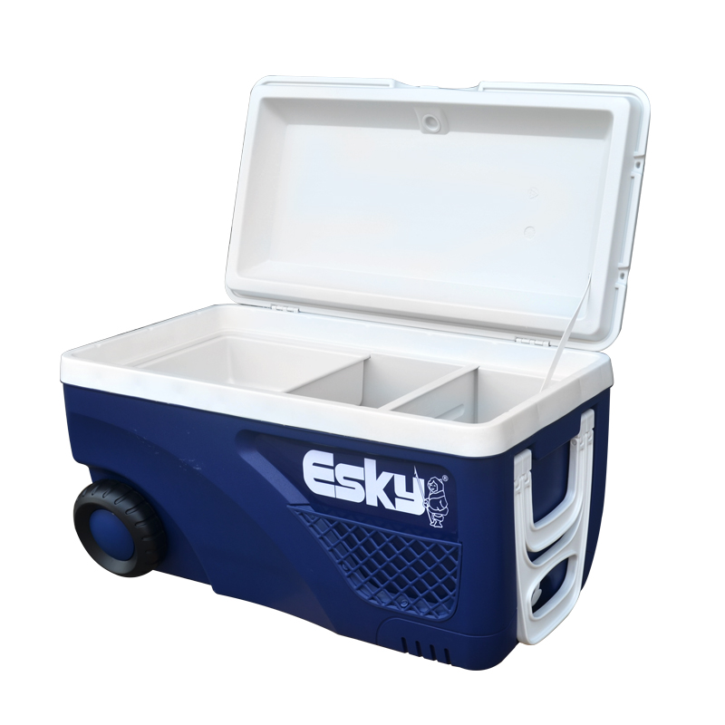 ESKY incubator refrigerated box large wheeled sea fishing barbecue outdoor ice block incubator car 65L commercial