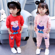 2017 new female baby baby wear clothes in the autumn of 1 0 3 and a half years old girl 2 years 4 two suit 5 tide