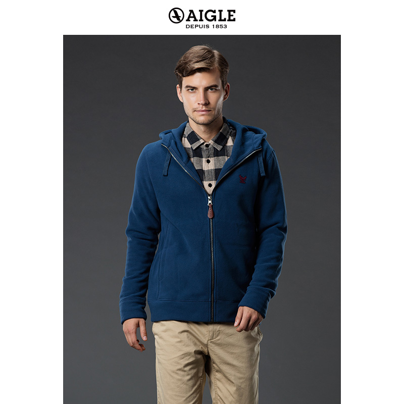 AIGLE Men's lightweight warm full pull fleece BOMWARM