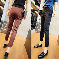 Hong Kong 2020 spring and summer wild suit pants wild fashion nine pants slim straight pipe casual pants