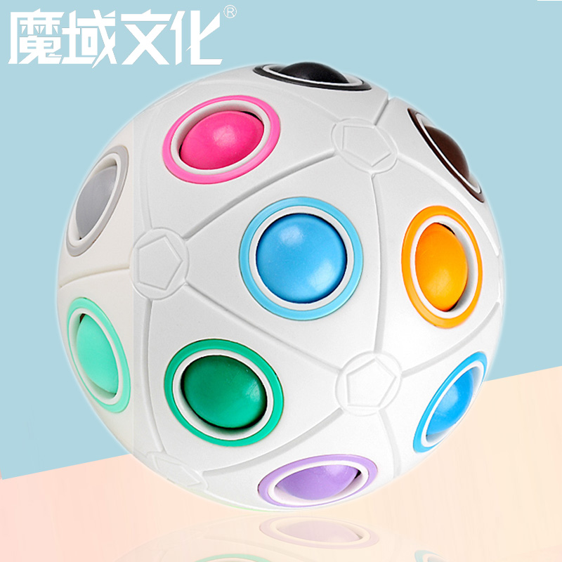 Magic Domain Culture Children's Puzzle Ball Magic Rainbow Cube Toy Intelligence Decompression Creative Finger Football Alien