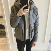Winter coat jacket men hooded cotton casual fashion Korean slim thick jacket winter clothes students
