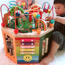 One-and-a-half-year-old puzzle boy intelligence 0-1-year-old baby toy early education enlightenment around Jewelry Box Girl