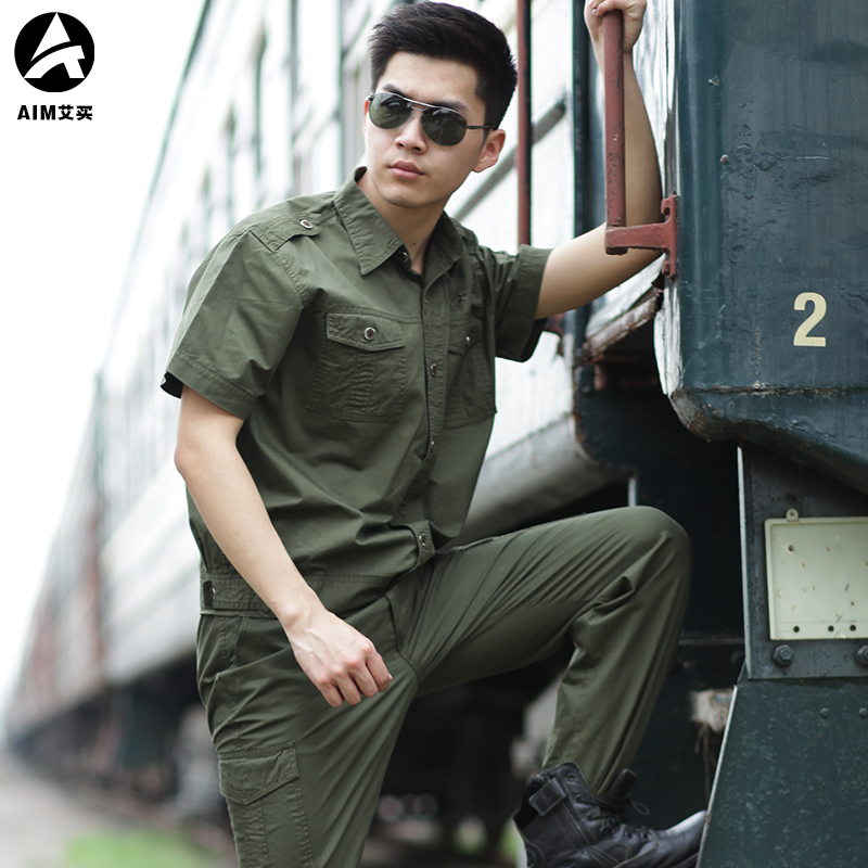 Short-sleeved Army Suit of Pure Cotton 101 Airborne Division in Summer