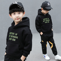 Boys childrens sweater 2020 spring new foreign gas in the Big childrens spring and autumn coat boy hooded jacket foreign tide