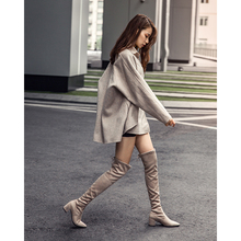 Jane, the woman's tipped boots, women's knees, boots, boots, boots, boots, boots, boots, boots, autumn and winter, 2018 new models.