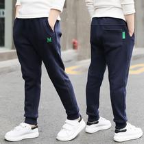 Мальчики спортивные брюки весна-осень 2020 Новая весна детские повседневные брюки воздух большой ребенок плюс бархат утолщенные брюки