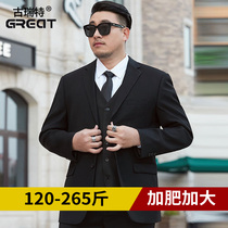 Fattening up the suit mens jacket fat loose business wedding dress professional dress size suit