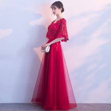 Bride toast in autumn and summer of 2019. Pregnant women can wear skinny wedding dresses and red dresses at ordinary times.