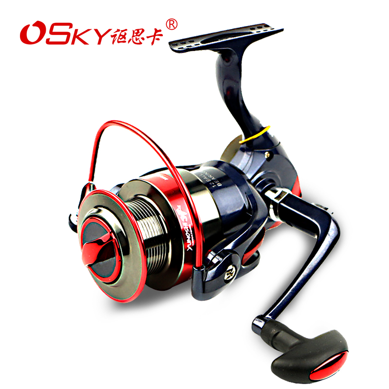 讴思卡Reel Full Metal Head Sea bream Linewheel Casting Wheel Spinning Wheel Road Asia 远投投 Fishing Wheel Fishing Tackle