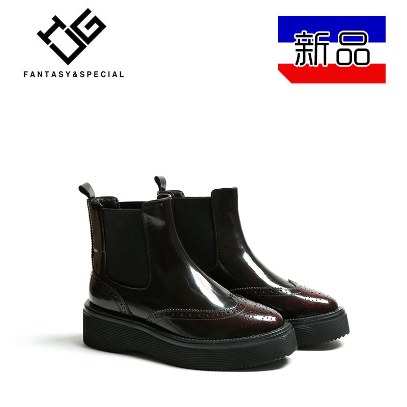 IGU2018 autumn and winter new thick bottom increased boots to keep warm Europe and the United States British wind with high shoes fashion shoes