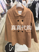 Winter of 2016 Iger WK lapel wool coat 160234072 71 1599 new solid color