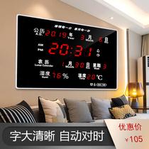 River electronic calendar 2019 new Luminous wall clock living room wall Digital Home Creative calendar clock