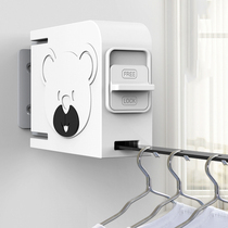 Invisible clothesline hole-free telescopic indoor yang-shrink clothes hanger hanging clothes wire drying artifacts