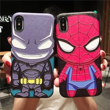 Q version Spider-Man China for P30 mobile phone shell P20 Batman 8x anti-fall protective cover Batman 10 animation prorong