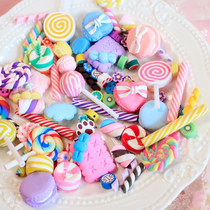 Toy lollipop DIY phone case material accessories cartoon resin DIY accessories fake candy simulation model