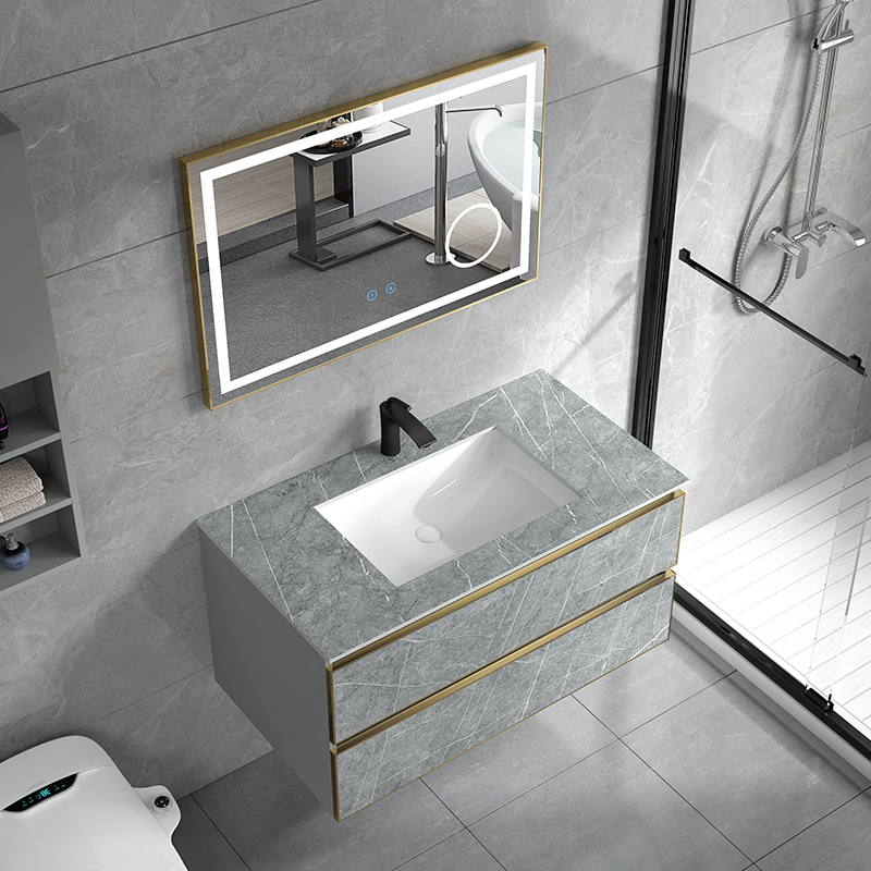 Rock bathroom cabinet combination intelligent washstand toilet washstand basin cabinet combination washbasin light luxury washstand