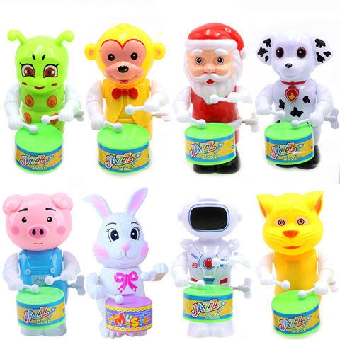 Children's puzzle toys, chain hair toys, drum powder, pigs, dogs, kittens, monkeys, cartoon toys