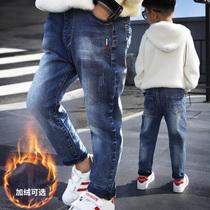 (Ухань топлива) мальчики джинсы Джокер детские брюки новая весна большой мальчик случайные брюки прилив