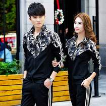 Size Li quiet couple sports suit mens spring and autumn 2020 new mens fashion casual running sportswear men