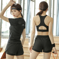 Yoga suit for women beginners summer fashion large size loose quick-drying clothes short sleeve net red fitness sports running suit