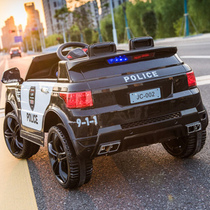 Childrens electric car Four-wheeled off-road vehicle police car can sit people children male and female baby toy car remote control car stroller
