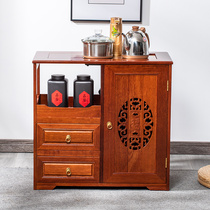 Solid wood tea cabinet Kettle one-piece household new Chinese tea table Multi-function tea side cabinet Mobile tea table tea cabinet