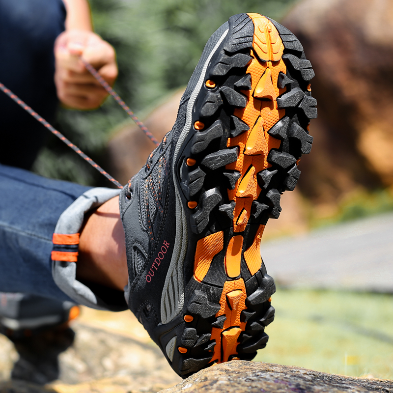 Wolverine outdoor hiking shoes breathable sneakers men leather anti-slip wear shoes climbing shoes casual hiking shoes women