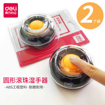 Power 9109溼 round ball-stained hand-counting cylinder creative hand-held sponge cylinder financial office supplies