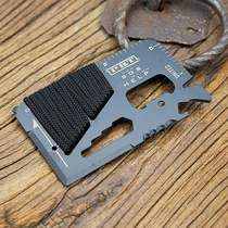 Tools to rescue outdoor new rope-wrapping multi-function tool card travel card.