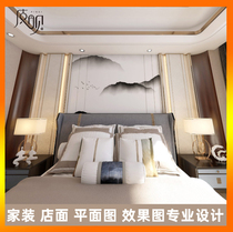 3D effect map production CAD drawing construction drawing decoration interior design 3dmax architectural landscape on behalf of painting