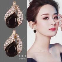 Zhao Liying the same Korean earrings temperament high atmosphere 2021 new trend 925 silver needle light luxury earrings women