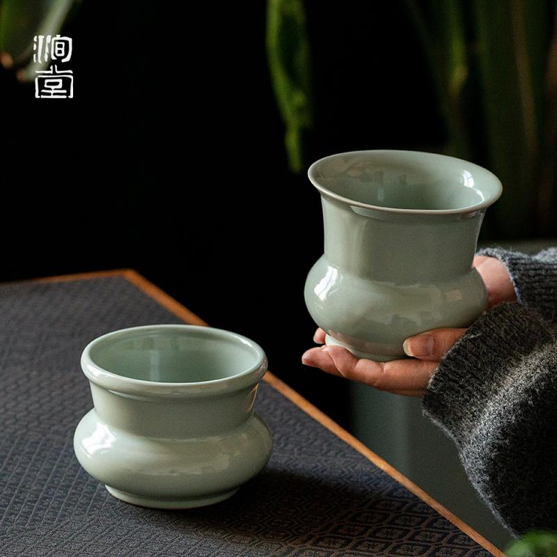 Yutang official kiln slag Doo Jingdezhen ceramic kung fu washing kung fu tea set large-size water tea set tea sea slag