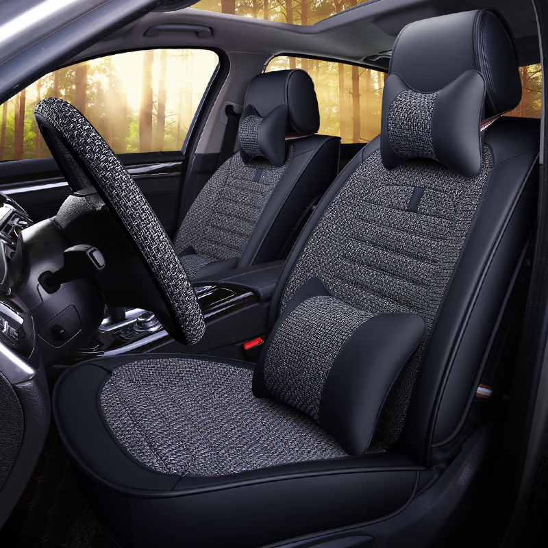 Four Seasons General Linen Seat Cover Volkswagen Toyota Ford Honda Modern Harvard H 6 Seat Cushion