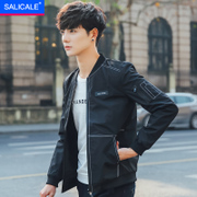 The new trend of Korean men's coats autumn 2017 leisure slim handsome thin autumn spring male mens jacket