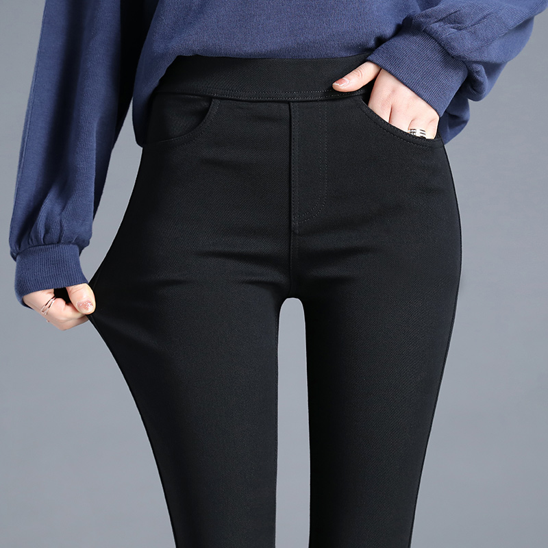Loose leggings women wear spring autumn 2021 spring new high-waisted summer thin black pencil small feet black pants